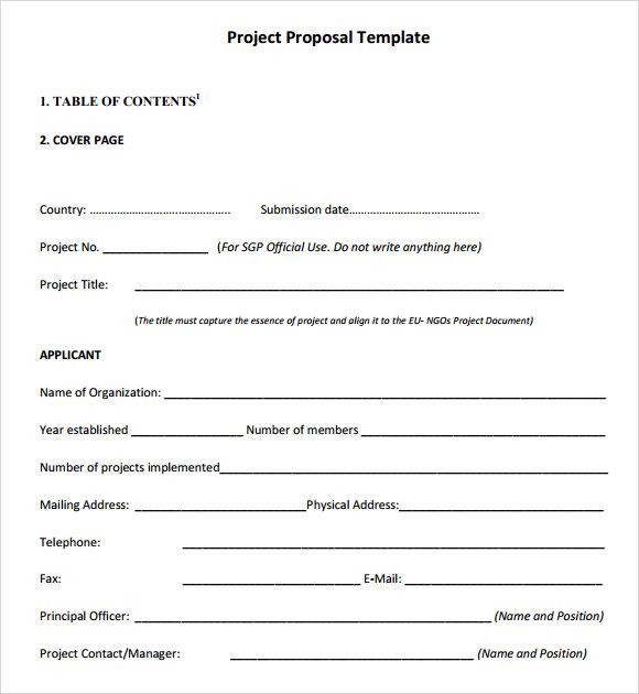 Project Proposal Templates Writing A Project Proposal Example