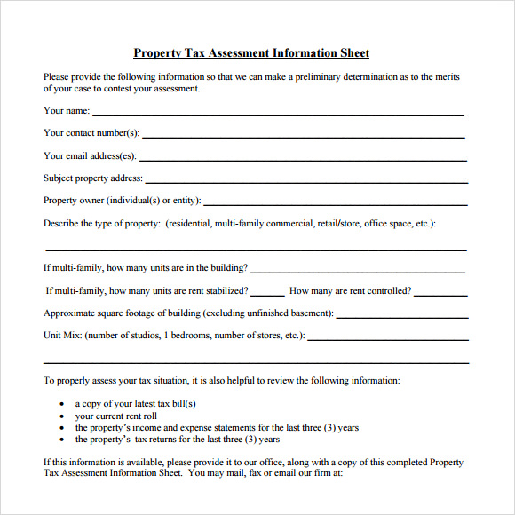 Property Assessment Template Real Estate Appraisal Order Form