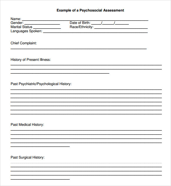 Sample Biopsychosocial Assessment - 8+ Documents In Pdf