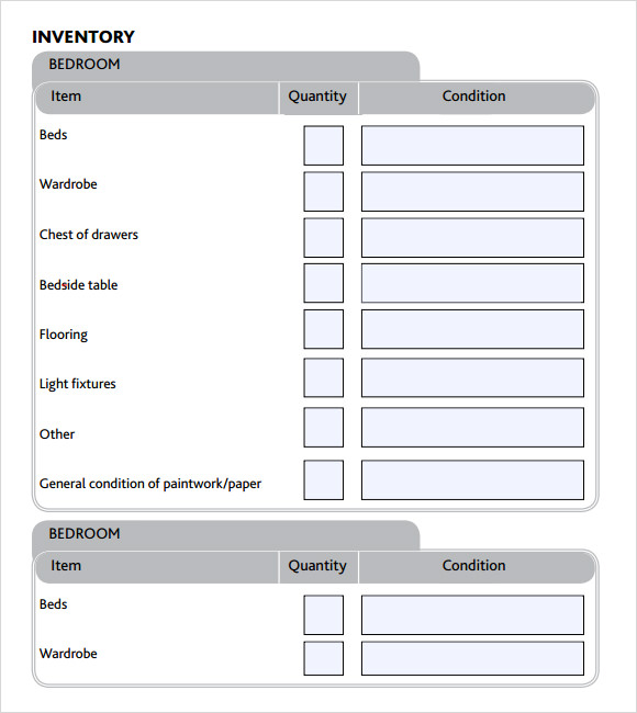 Inventory Checklist Template Our Author Has Been Published