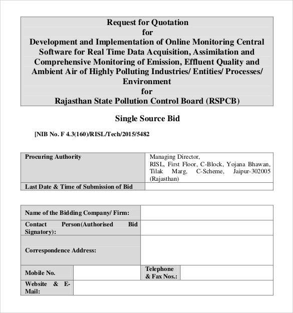 Quotation Template 42 Documents in PDF Word Excel