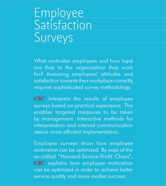 Employee Satisfaction Survey   Download Free Documents In Pdf