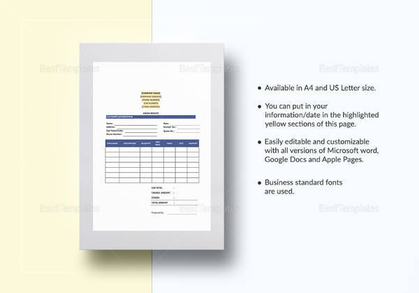sample receipt template 25 free documents in pdf word excel