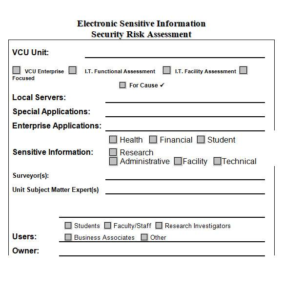 security assessment template in ms word