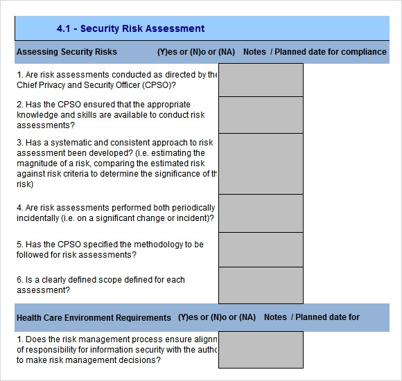 Risk Assessments Templates. risk assessment form for electricians ...