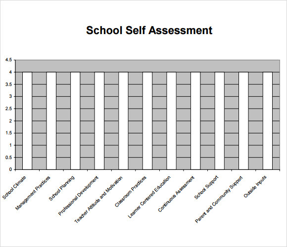 self assessment template primary school