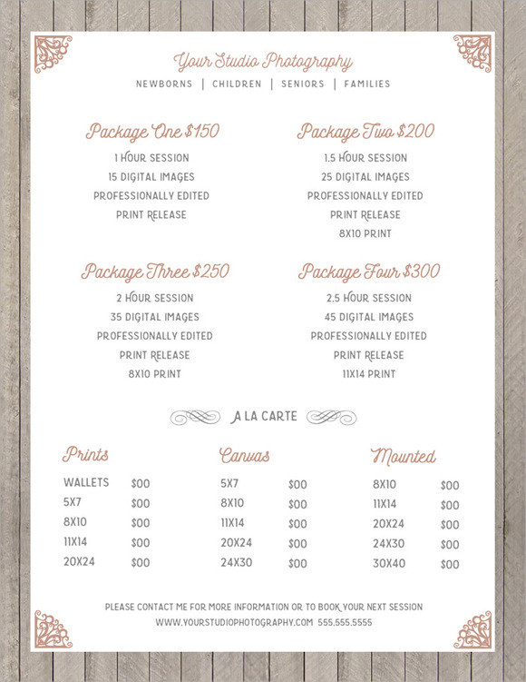 sell sheet template photoshop