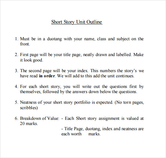 Story Outline Template   9  Download Free Documents in PDF Word W3UAyVF3