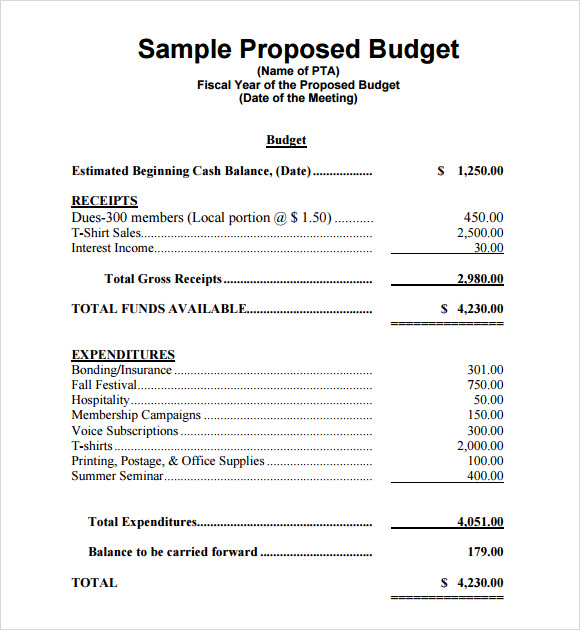 Simple project proposal template budget proposal template 7 free download for pdf word excel maxwellsz