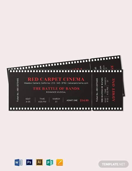 simple movie ticket template1