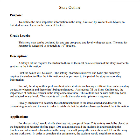 Story Outline Template   9  Download Free Documents in PDF Word 6m1PCFmh
