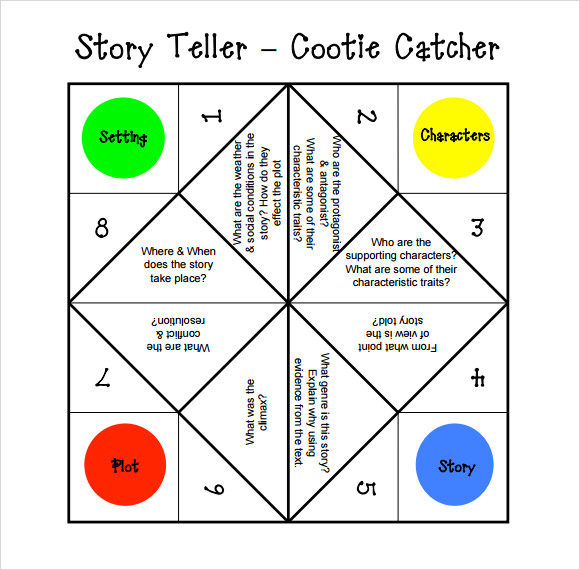 graphic about Printable Cootie Catcher Template called Totally free 9+ Cootie Catcher Templates within PDF PPT PSD