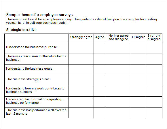Employee Engagement Survey   Download Free Documents In Pdf  Word