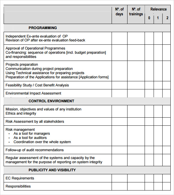 14 sample training needs assessment templates pdf word for Financial needs analysis template free