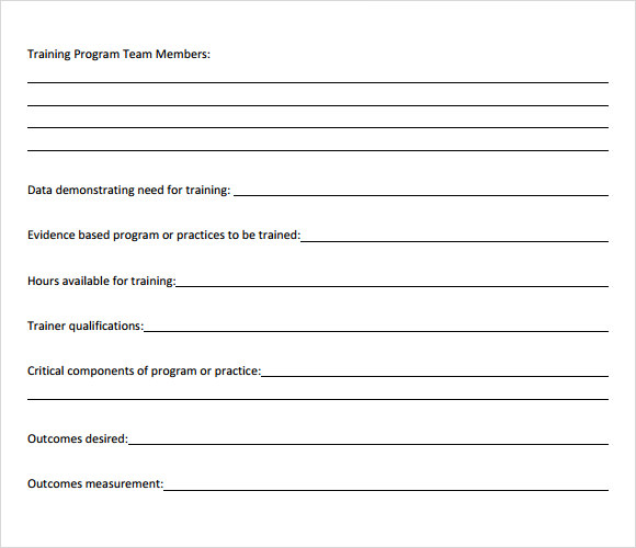 Training Outline Template - 7+ Download Free Documents In Pdf , Word