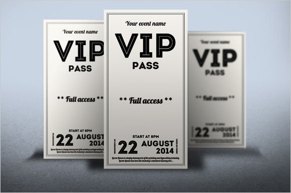 vip tickect template
