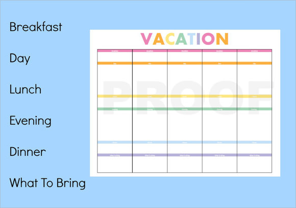Vacation Itinerary Template - 7+ Download Free Documents ...