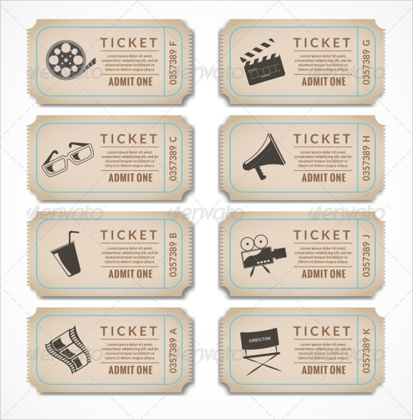 Movie Ticket Template 9 Premium and Free Download for Word – Movie Ticket Template for Word