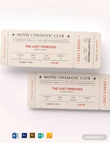 vintage movie ticket template1