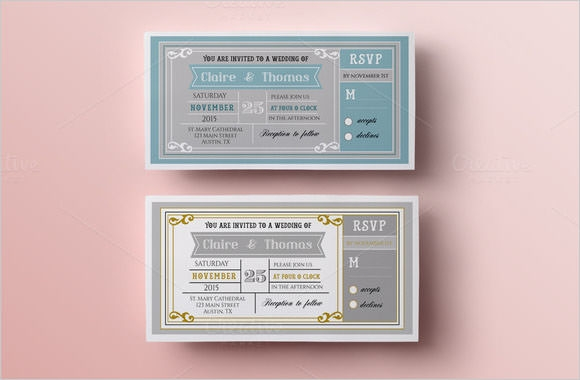 wedding ticket template
