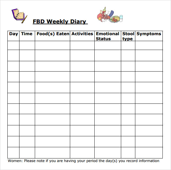 Food Diary Template - 7 Download Free Documents in PDF