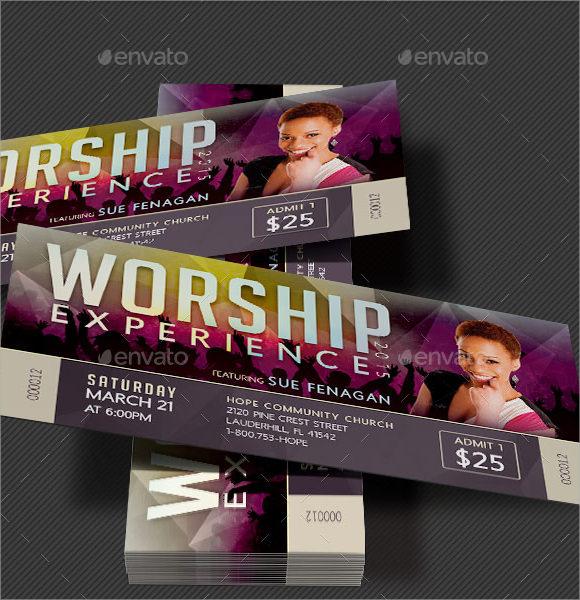 worship concert ticket template