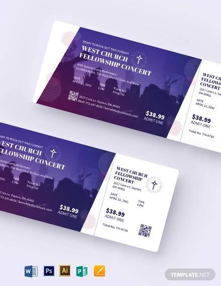 worship concert ticket template1