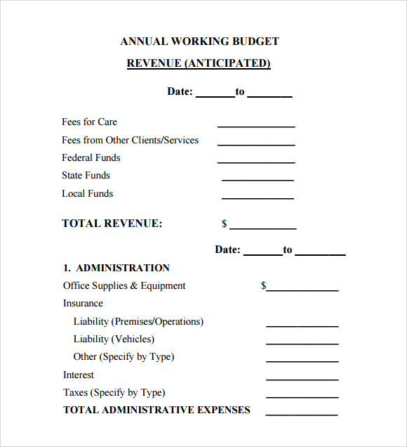 Yearly budget template excel yearly budget template 6 free download for pdf excel sample cheaphphosting Images