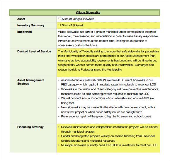 asset inventory format