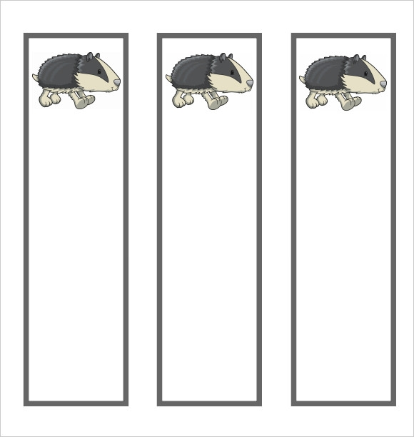 blank bookmark template for kids