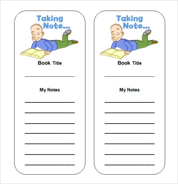 free printable bookmark templates word .