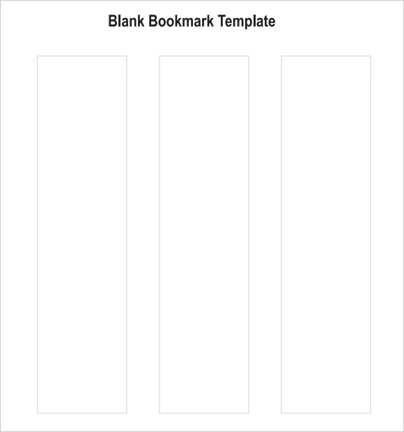 Sample Blank Bookmark   Documents In Pdf Word