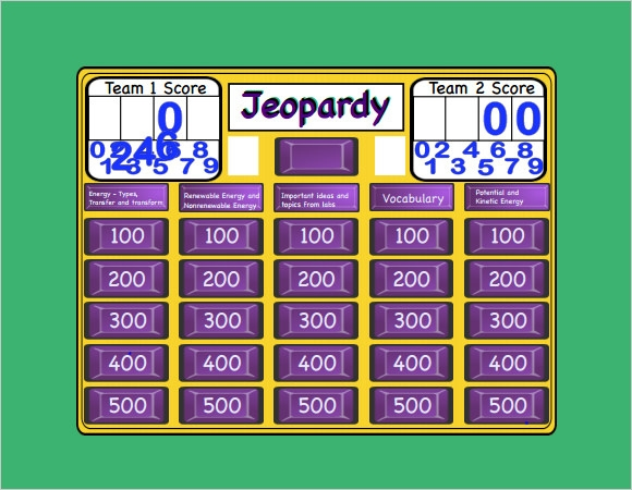 Blank Jeopardy Template - 9+ Download Documents In Pdf , Ppt