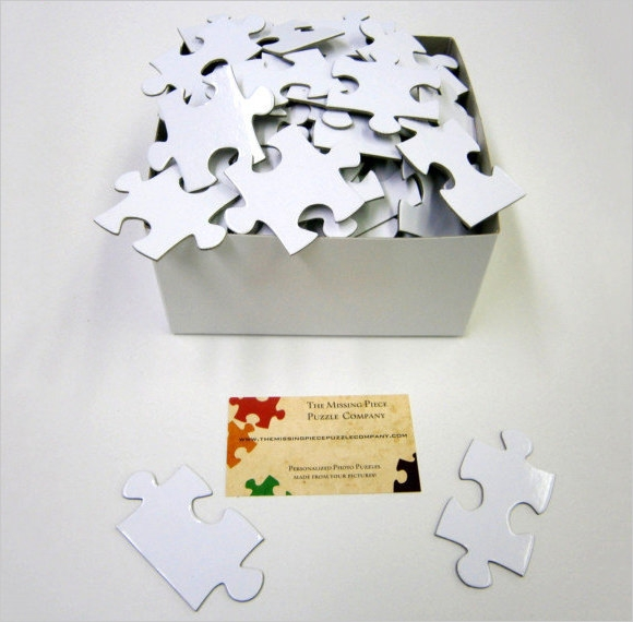 blank puzzle for wedding