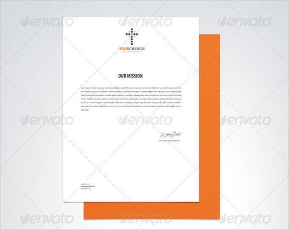church letterhead template 6 premium and free download