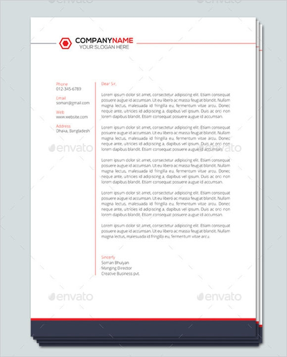 Company Letterhead Template 7 Premium And Free Download