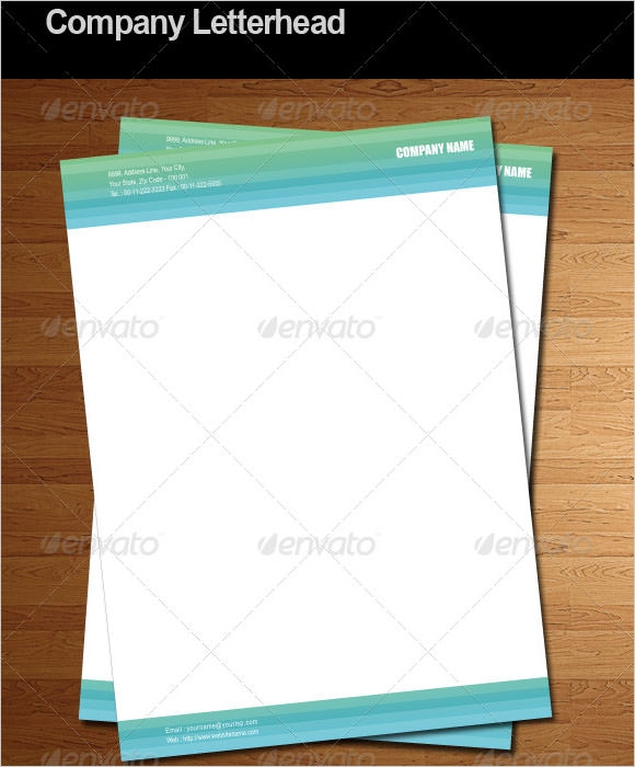 Eps Corporate Letterhead Template 000105: Sample Company Letterhead Template