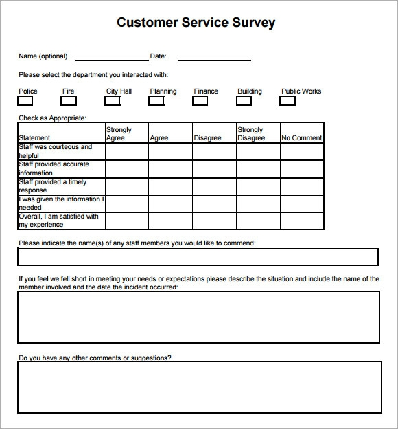 customer survey form template. Black Bedroom Furniture Sets. Home Design Ideas