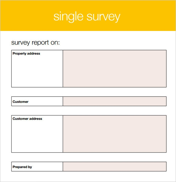 Free Blank Survey Template  Printable Survey Template