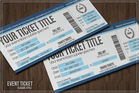 free ticket template
