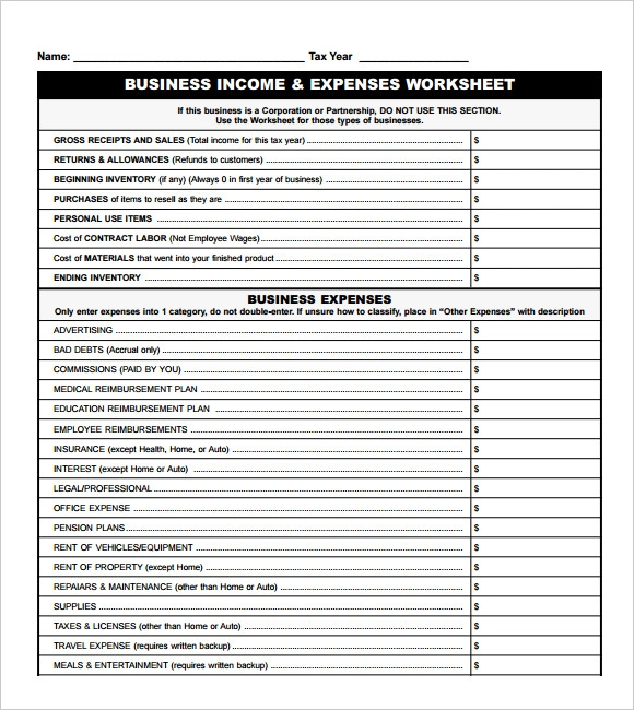14 sample expense sheet templates to download