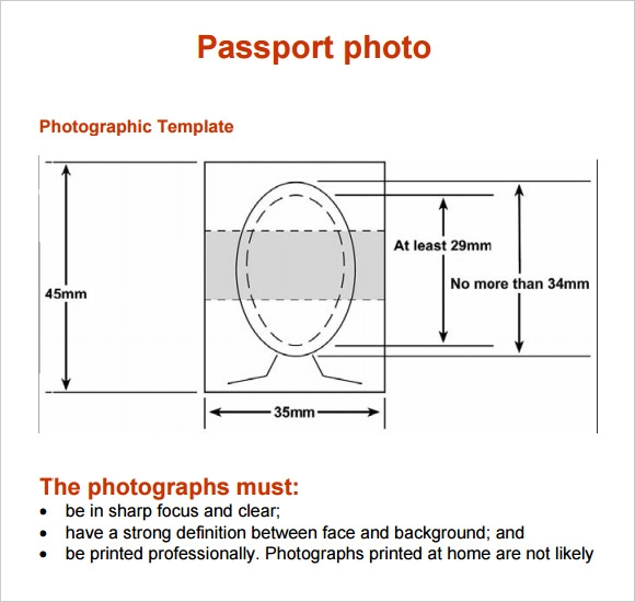 Passport Photo Template   4 Download Documents for PDF Sample JW6gahpA