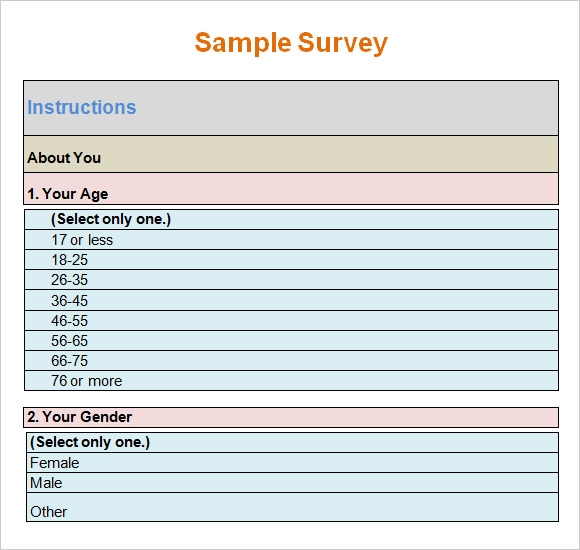 poll template for word 7 blank survey samples sample templates
