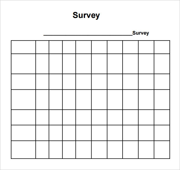 Sample Blank Survey 6 Documents in PDF Word – Blank Survey Template