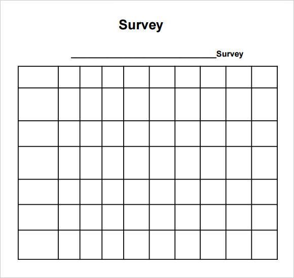 Sample Blank Survey 6 Documents in PDF Word – Blank Survey