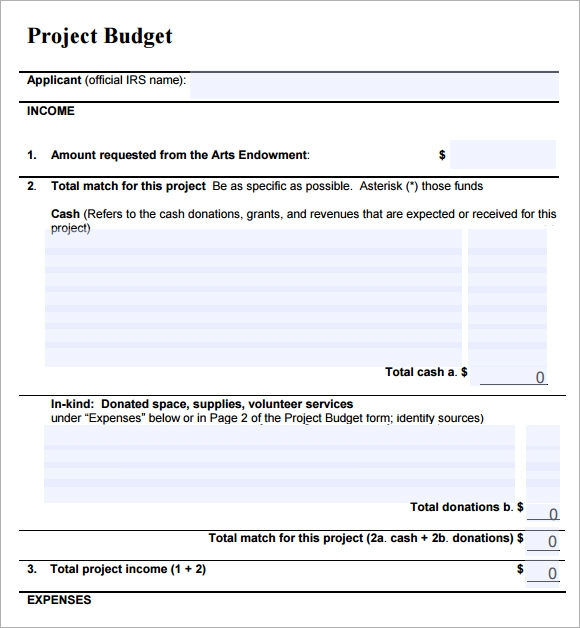 14  sample project budget templates