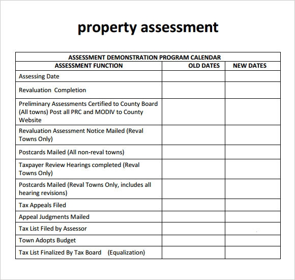 Property Assessment Template - 9+ Download Free Documents In Pdf