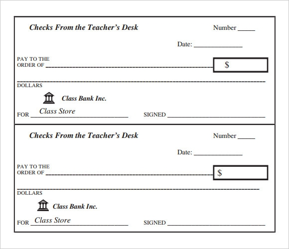 Sample Blank Cheque 5 Documents in PDF PSD – Blank Cheque Template