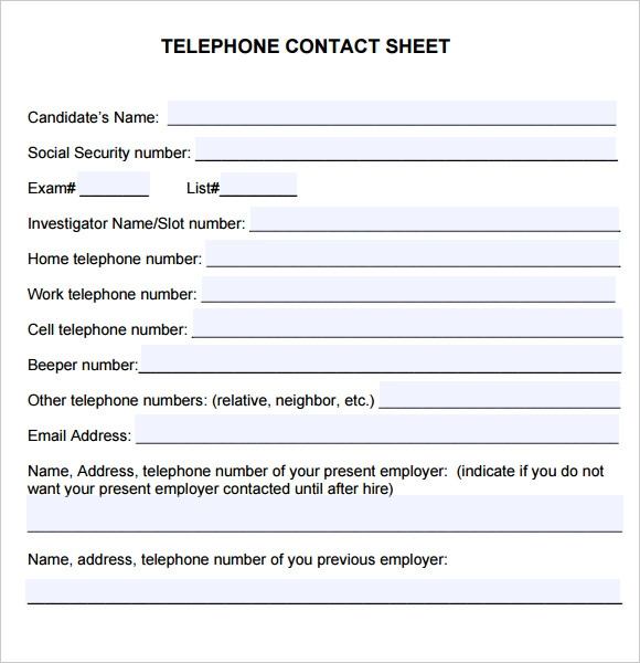 Sample Contact Sheet   Documents In Pdf