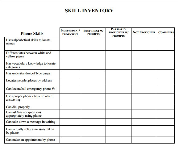 Skills Inventory List Pictures to Pin PinsDaddy – Skills Inventory Template